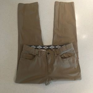 Hiltl 5 pocket straight khaki pants size 34x32